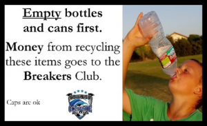 empty bottles and cans first
